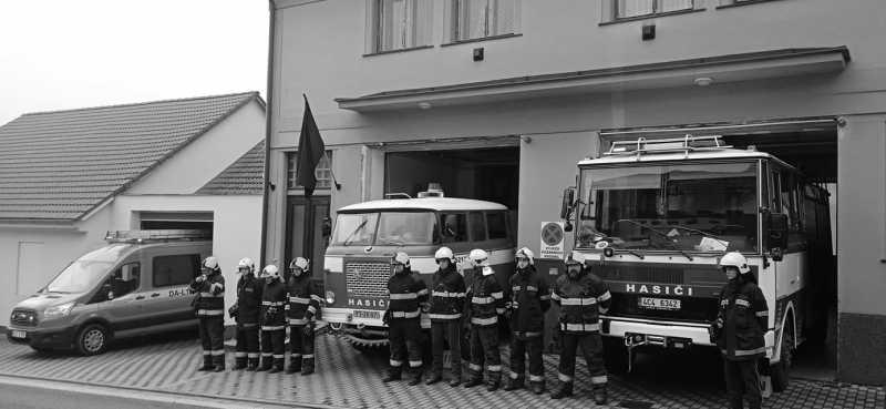 uctění památky dobrovolných hasičů v Koryčanech